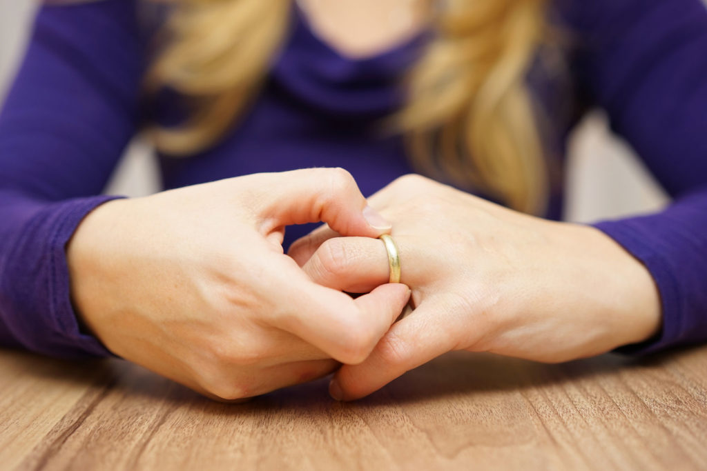 Cheating Partner Takes Off Wedding Ring